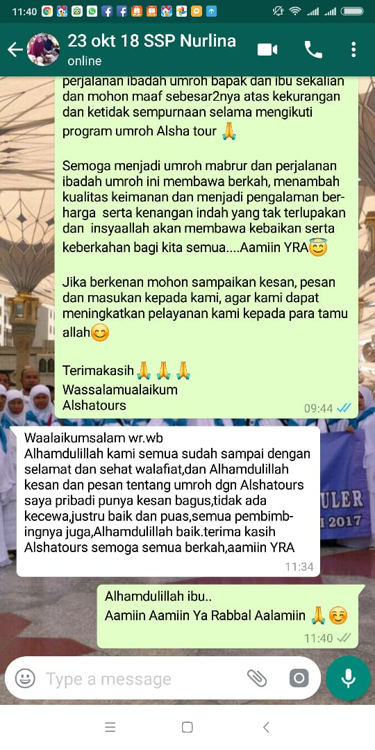 testimoni jamaah alsha tours & travel
