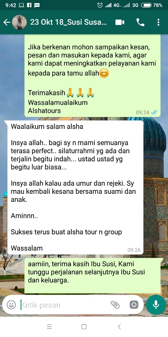 testimoni travel alsha tour