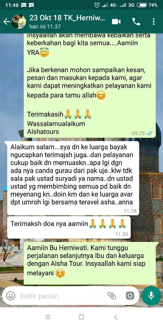 testimoni alsha travel